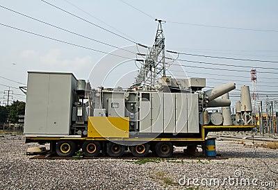 High voltage transformer mobile