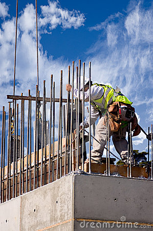 Free High Wall Worker Against Cloud Stock Photo - 2886620