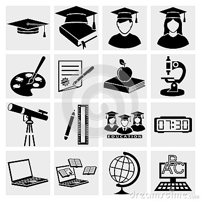 Higher Education Icons Set Royalty Free Stock Photo - Image: 28538125