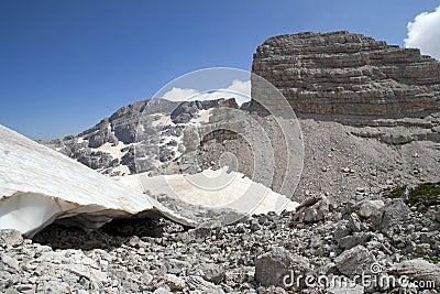The highest peak at Albanian Alps