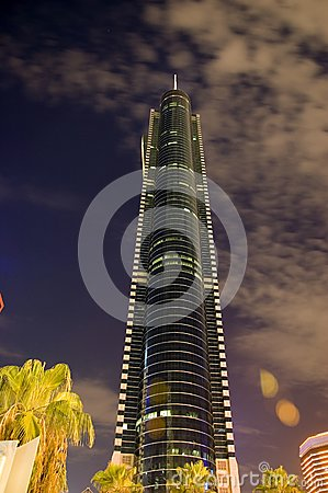 Highest skyscraper by night