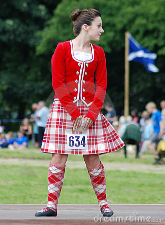 Highland Dancer Editorial Stock Image