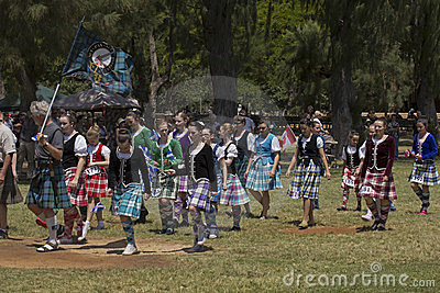 Highland dancers Editorial Stock Photo