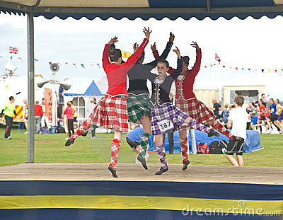 Highland Dancers competing at Nairn. Editorial Stock Image