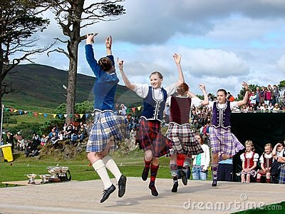 Highland Games: Dancers Editorial Photo