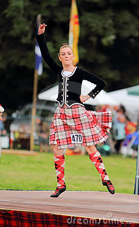 Highland Games Highland Dancer in Scotland Editorial Image