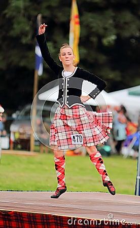 Highland Games Highland Dancer in Scotland Editorial Image