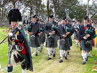 Highland Games: Pipe band Editorial Stock Image