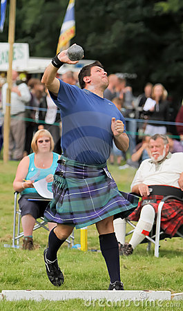 Highland Games Shot put in Scotland Editorial Stock Photo
