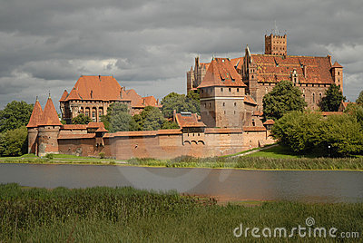 Highlighted Malbork castle