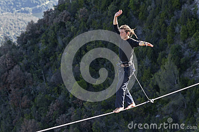 Highlining Editorial Stock Photo