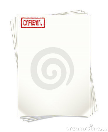 Highly Confidential Document Papers Illustration