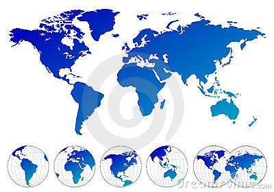 Highly Detailed Maps Of The World Royalty Free Stock Photos - Image: 9969718