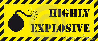 Highly explosive signboard