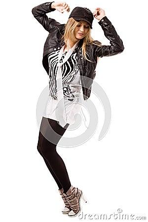 Highly modern caucasian women dancing