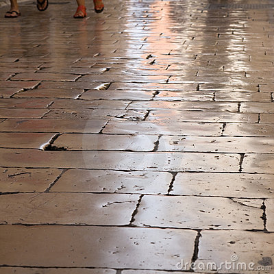 Highly polished flagstones