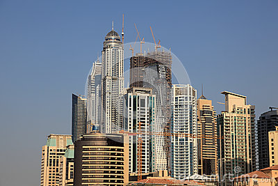 Highrise buildings of the Dubai Marina