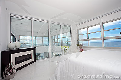 Highrise master bedroom