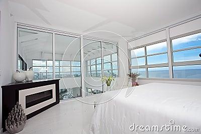 Highrise master bedroom