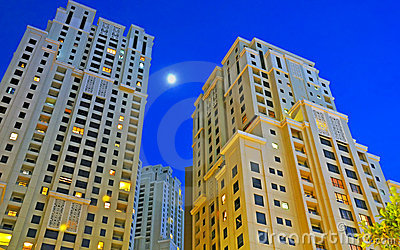 Highrise Towers at Night