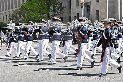 The Highty –Tichties the Regimental Band.   Editorial Stock Image