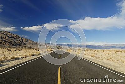 Highway across Mojave Desert