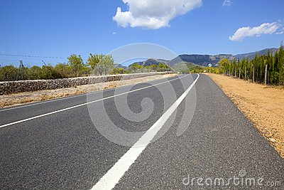Highway across non-urban landscape