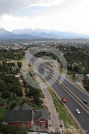 Highway in Almaty