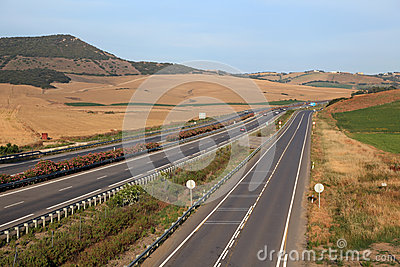 Highway in Andalusia, Spain