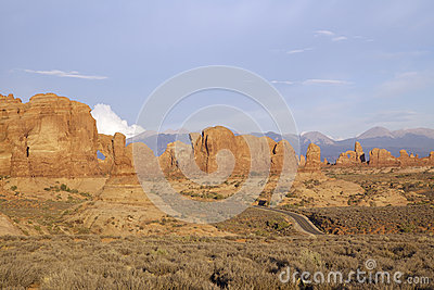 Highway Through Arches National Park