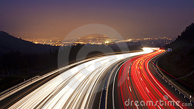 Highway as it passes through Donostia