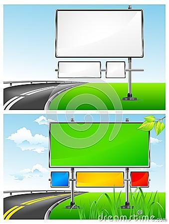 Highway billboards