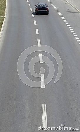 Highway closeup