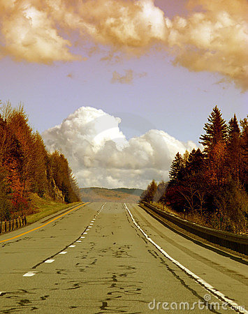 Highway in countryside