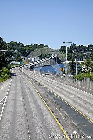 Highway crossing Lake Union
