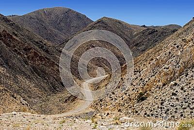Highway through Death Valley