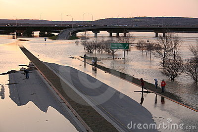 Highway Flooded Editorial Image