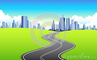 Highway going to City