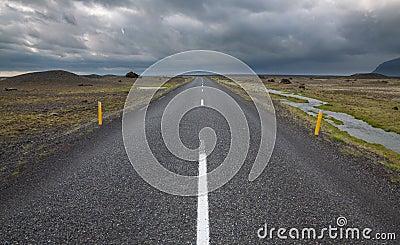 Highway through Iceland