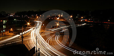 Highway intersection at Night