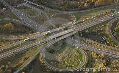 Highway Intersection at Rush Hour