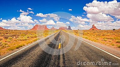 Highway in Monument Valley