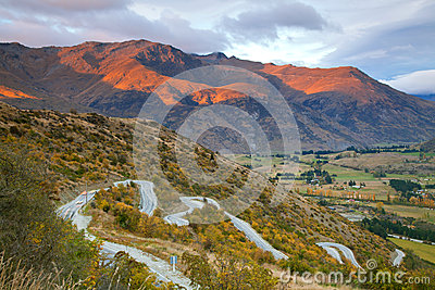 Highway Mountain range New Zealand
