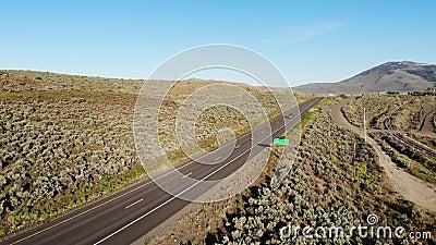 Highway 395, Nevada, USA stock video
