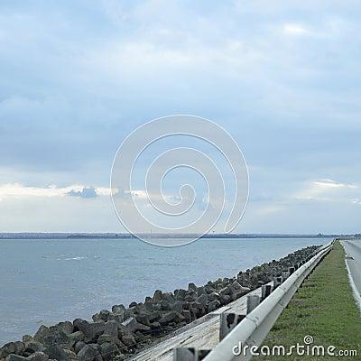 Highway and ocean