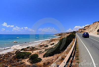 Highway over the beach
