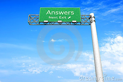 Highway Sign - Answers