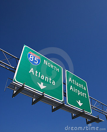 Highway sign in Atlanta