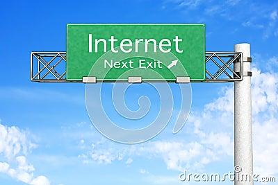 Highway Sign - Internet