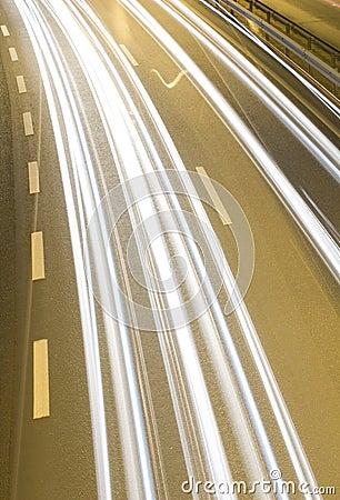 Highway speeding cars